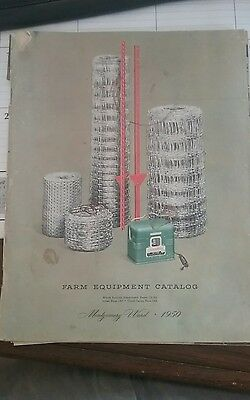 vintage 1950 Montgomery Ward farm equipment catalog