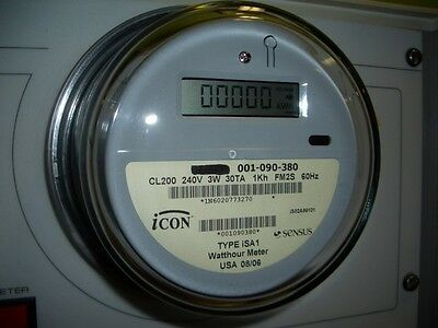 ICON Electronic Electric WATTHOUR METER 240v Residential RV House Home Solar