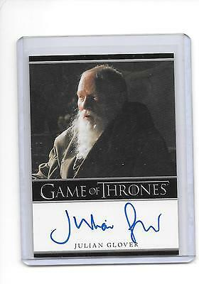 Game of Thrones Season 1 Julian Glover as Grand Maestrer Pycelle Bordered Auto
