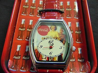 New Coca-Cola watch in tin, Classic Coke, Collectors Watch, Collectors Tin