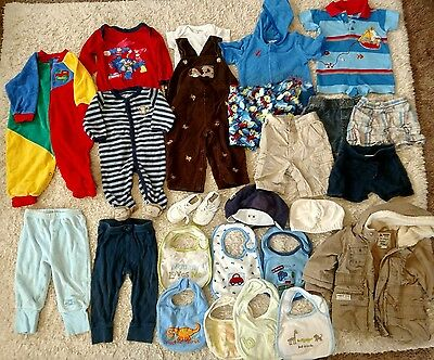 Great 25 Piece Mixed Lot~Infant BOY'S SIZE 3/6 & 6-12 Months~SUMMER & FALL~VGC