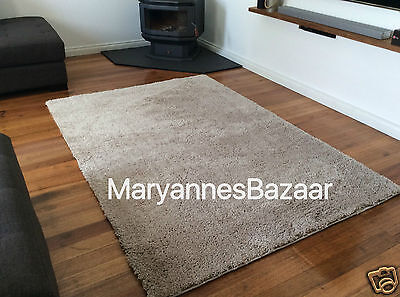 Extra Large Shag Rug Cream Shaggy Floor Rug Thick Plush Pile FREE DELIVERY