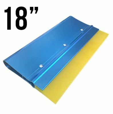 """Screenprinting squeegee handle with 70 Yellow blade 18"""" Anodized Aluminum"""