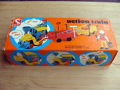MS-TOY M.Seidel  - action Train mit Aufzugwerk 1970er - Top in OVP !