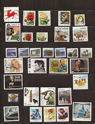 Canada 2014 collection of 32 nice used stamps