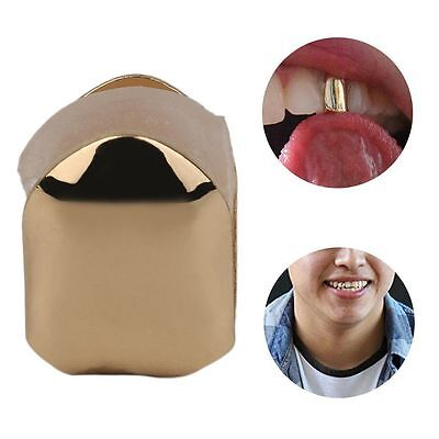 Gold Single Grillz Tooth Clip 24k Plated Mouth Teeth Cap Grills Bling Hip Hop UK
