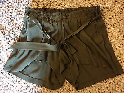 M&s Maternity & Beyond Khaki Green Shorts Bnwt Size 14 New