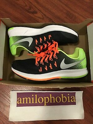 New Youth Nike Zoom Pegasus 33 (GS) Size 7Y Black Silver Volt Running Shoes