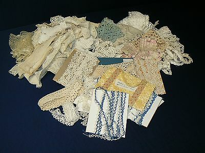 Antique Lace Knitted Tatted Bobbin Needle Machined Vintage Trim