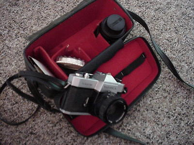 YASHICA TL ELECTRO X 35mm VINTAGE CAMERA w/ CASE 50mm lens japan mint with extra