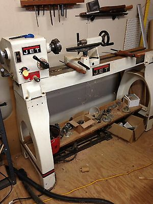 Jet 1442 Wood Lathe 1 Hp excellent Condition  extras, Plus Knives