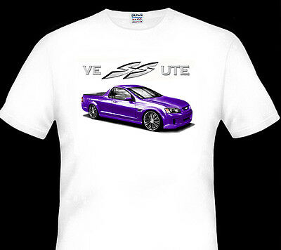 Holden  Ve Hsv   Ss  Ssv  Ute    White  Tshirt  Men's  Ladies   Kid's  Sizes