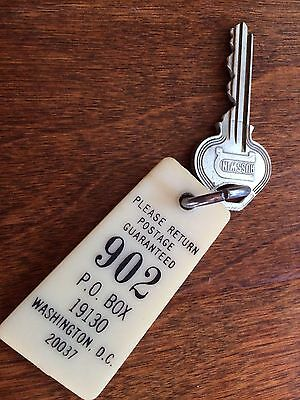 VINTAGE  Washington DC post office box  Historic KEY AND KEYCHAIN