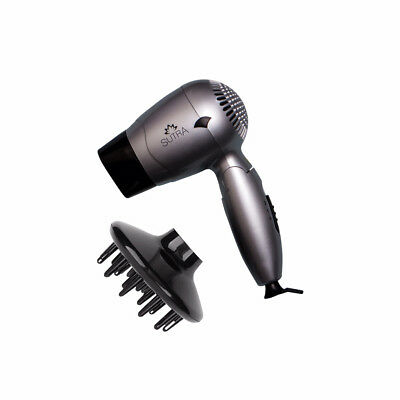 SUTRA Professional Light & Powerful Hair-Smoothing Travel Blow Dryer - Silver