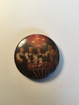 Punk Rock Music Button Pin Collectible Vintage,   Scorpions Band Group