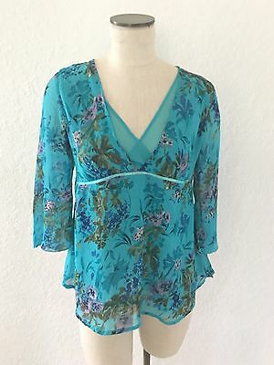 Oh Mamma Women's Maternity Blouse Small, 3/4 Sleeves, Floral Print