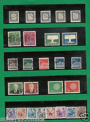 Vintage Germany Stamps Used 7 sets . NICE LOT A51