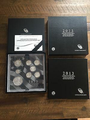 2013 United States Mint Limited Edition Silver Proof Set w/ Original Box & C.O.A