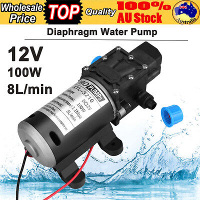 12V 100W 8L/Min 160Psi High Pressure Diaphragm Self Priming Water Pump for Wash