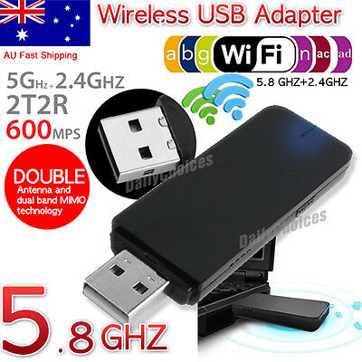 802.11ac AC600 USB WiFi Wireless Adapter Dongle For PC Laptop WPS 5GHz Dual Band