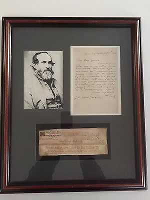 Confederate Document General Jubal Early Letter & Envelope