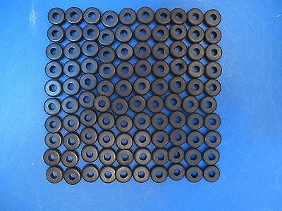 "Lot of 100 Rubber Grommets 1/4"" Inside Diameter for 7/16"" Holes"