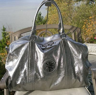 Authentic Thomas Wylde Silver Duffle Travel Carry-on Bag -- Simply Gorgeous!!