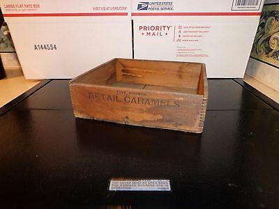 Antique Caramel Pure Candy Box 5 Lbs Retail General Store