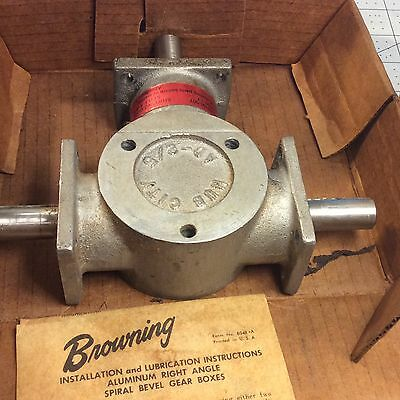 Browning Hub City Right Angle Spiral Bevel Gear Box AD-2/5 Ratio 1:1 #62950