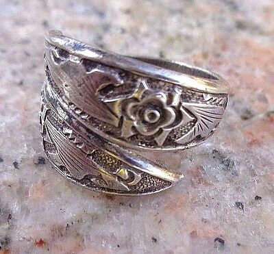Antique Chinese Silver Bypass Ring Signed & Stamped