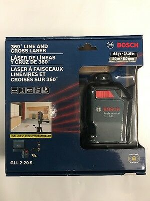 Bosch 360 Line And Cross Laser #gll 2-20S New