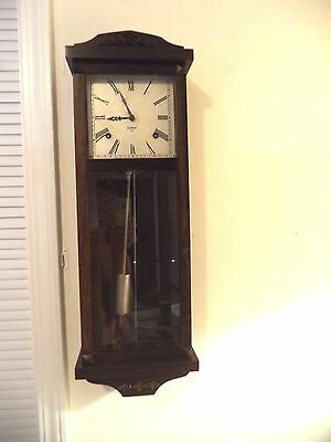 Beautiful Antique Gilbert Wall Clock-Pristine Working 8-Day 1920-1930!