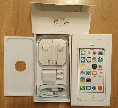 NEW iPhone 5S 16GB Gold Box and Accessories (NO PHONE)!