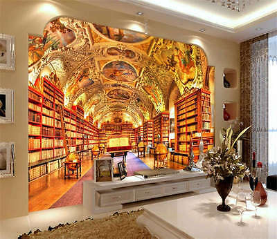 Strahov Monastery Library Full Wall Mural Photo Wallpaper Print Home 3D Decal