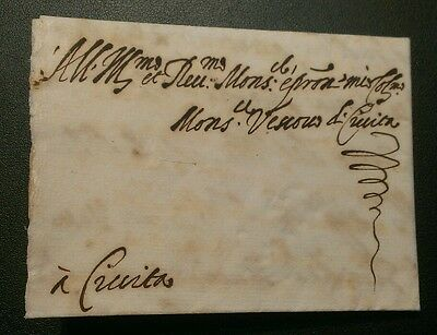 Very Rare 1607 Italy Papal States Letter Entire To Civita