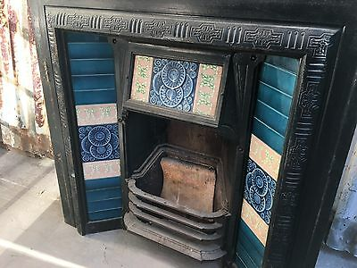 Cast Iron Fireplace With Tile Decorations 960w X 960h