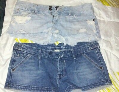LOT 2 juniors  Abercrombie Denim Shorts Size 16