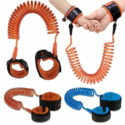 1.5/2.5m Anti Lost Spring Wristband safety Harness Rope Belt Elastic Wire Kid AU