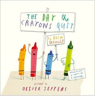 The Day the Crayons Quit By Drew Daywalt Board Book   Brand NEW & Free Shipping