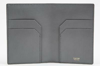 Tom Ford NWT $550 Solid Beige Smooth 100/% Calf Leather Bifold Wallet Card Holder