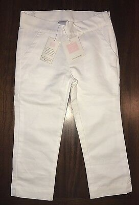 NWT Janie and Jack Toddler Girls Summer Size 4 4T White Pants