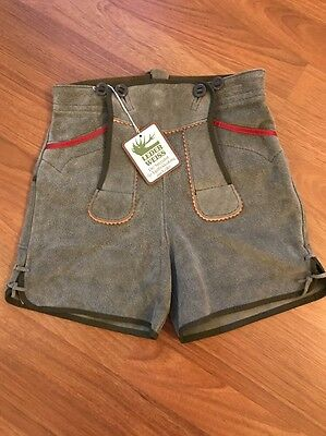 Leder Weiss Kids German Folklore Leather Shorts NWTs!!