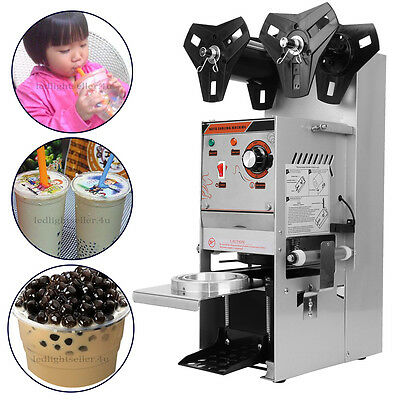 Electric Bubble Tea Cup Sealer 300-500 Cups/Hr Sealing Machine Semi Automatic