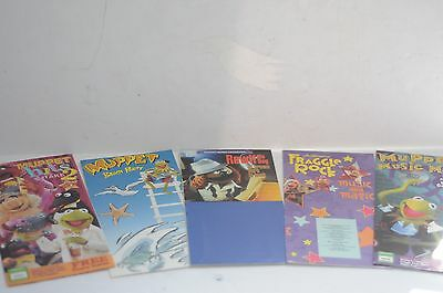 LOT OF 5 vintage Jim Henson's MUPPETS posters Kermit, Rowlf, Music, fraggle HITS