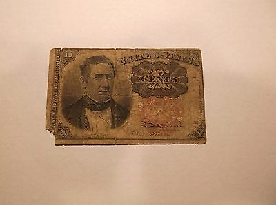 10 CNTSTen Cents United States Fractional Currency Note CIVIL WAR ERA