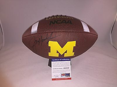 Jim Harbaugh Signed Michigan Wolverines Football Psa/dna 3