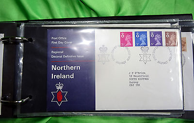Post Office First Day Covers - Regional Decimal: Scotland - Wales - N. Ireland