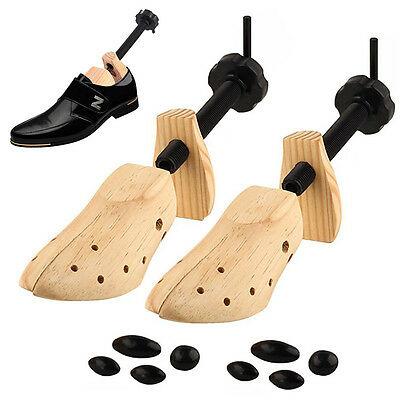 NEW One Pair Wooden Adjustable Shoe Stretcher Size 9-13 Vintage 2 Way Shaper DH