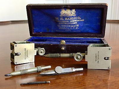 An Early 20th Century Beam Compass Set, By W Harling. In Original Box.