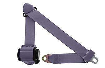 Ford Au Ba Bf Falcon Right Hand Driver Side Seat Belt - Grey 1998 - 2007